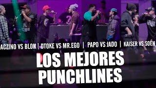 Los Mejores PUNCHLINES: ACZINO vs BLON | DTOKE vs MR. EGO | PAPO vs JADO | KAISER vs SOEN | 2017