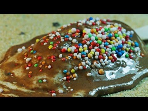 Ice Cream Melting In Macro