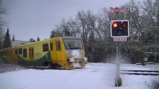 Spoorwegovergang Velký Rečkov (CZ) // Railroad crossing // Železniční přejezd