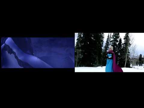 FROZEN - Elsa: Let it go song - Original and real life