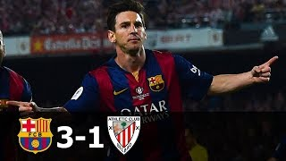 FC Barcelona vs Athletic Bilbao 3-1 Highlights (CDR Final) 2014-15 HD 720p (English Commentary)