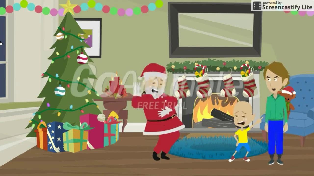 Caillou Loses his Data/Wolf Appears/Dances With Santa/Grounded