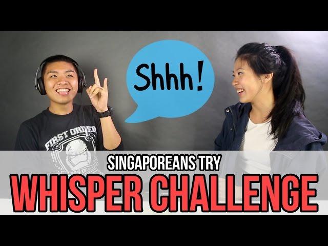 Singaporeans Try: Whisper Challenge | EP 19