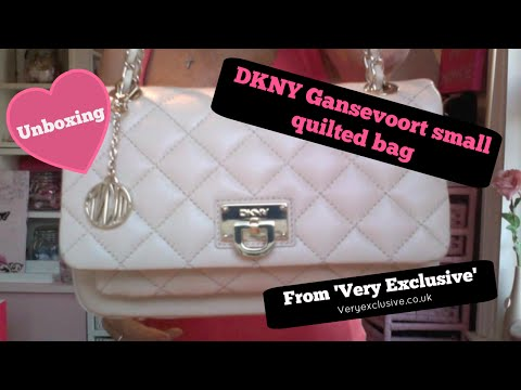 Unboxing DKNY Gansevoort Small Quilted Bag from 'VeryExclusive'