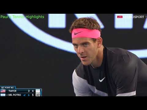 Juan Martin del Potro vs  Frances Tiafoe - Highlights - AUSTRALIAN OPEN 2018 - 1st round (HD 60fps)