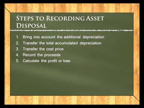 Accounting Lessons: Disposal of assets