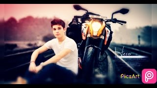 picsart editing aloneboy Bike on railtrack step by step bike editing manipulation change background