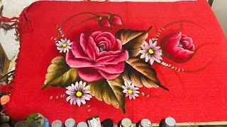 Aprenda A Pintar Rosas No Tapete Vermelho