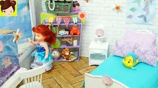 Habitacion Nueva de la Bebe de Ariel La Sirenita - Como Hacer Dormitorios para Muñecas