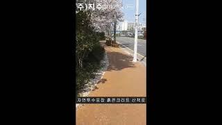 자연투수흙콘크리트 산책로