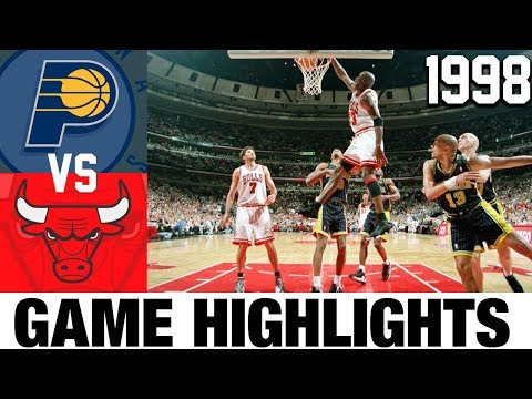 Bulls vs Pacers 1998 ECF Game 7 Highlights