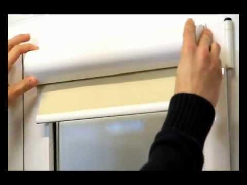 Tecniter cortina enrollable opaca con cajet n y gu as - Estores enrollables de plastico ...
