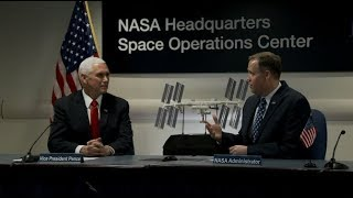 Vice President Pence and Administrator Bridenstine Talk with Astronauts on Space Station