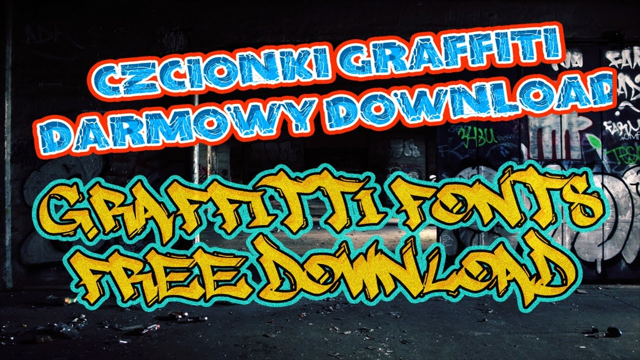 Graffiti fonts czcionki free download style photoshop