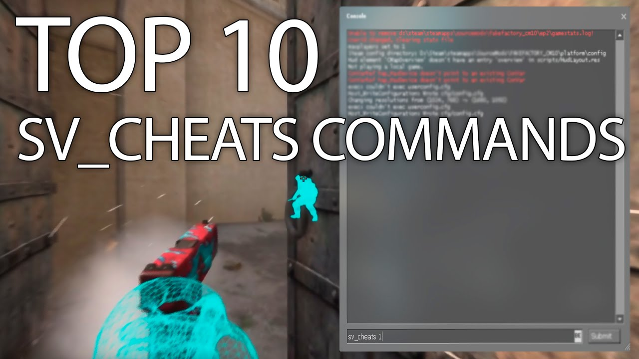 [ CSGO ] - Top 10 Sv_Cheats Commands! (DK)
