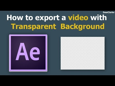How to export a video with a transparent background (Best Way)