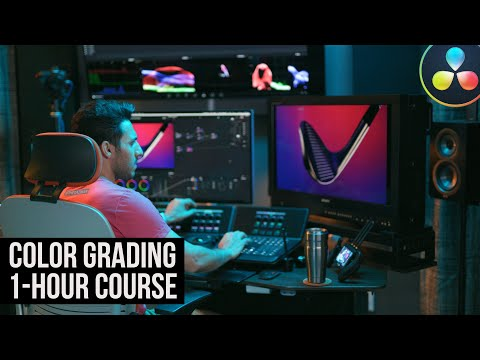 DaVinci Resolve 16 Tutorial: Color Grading Crash Course for Beginners in 1 hour (2020) thumbnail