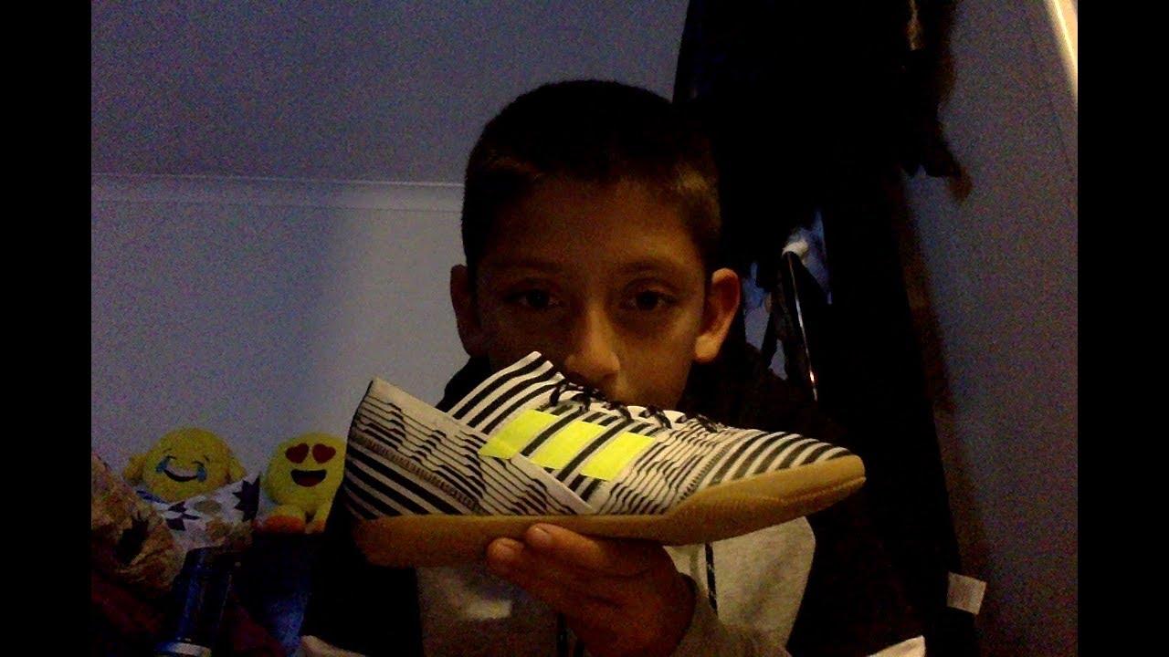 abf292699522 Unboxing the adidas Nemeziz indoor boots - YouTube