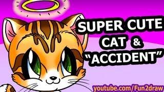 How to Draw Animals Easy - Cute Cartoon Cat - Fun2draw