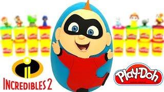Huevo Sorpresa Gigante de Los Increíbles 2 Jack Jack de Plastilina Play Doh