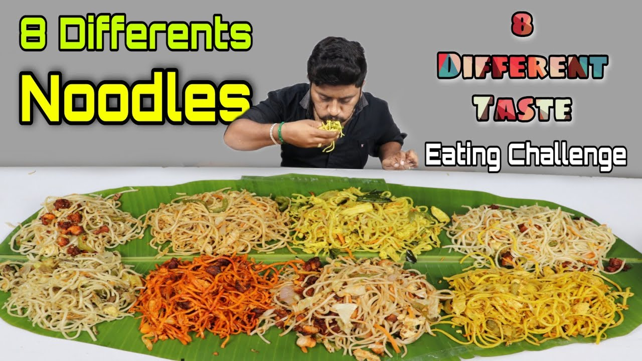 8 Different Types Noodles Eating Challenge | Mutton Noodles, Hongkong Ext... | Eating Challenge Boys