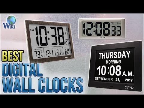 6 Best Digital Wall Clocks 2018