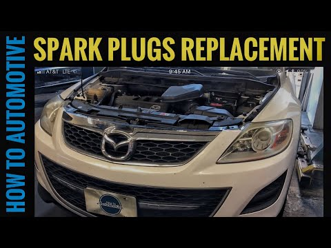 How to Replace the Spark Plugs on a 2006-2015 Mazda CX-9 with 3.7L Engine