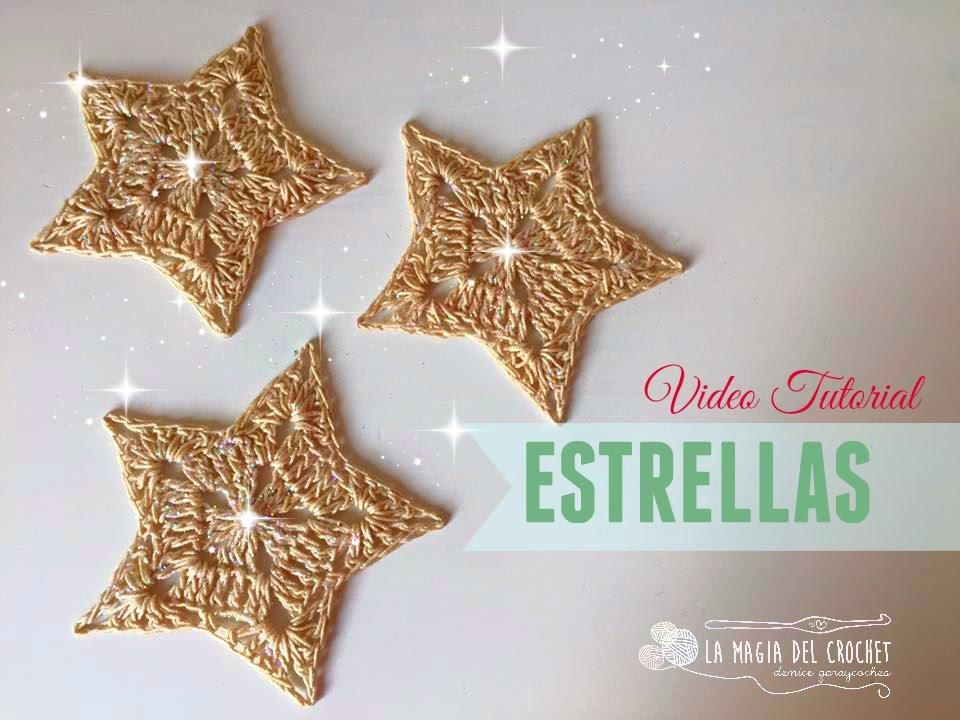 Estrella Navideña a Crochet - YouTube