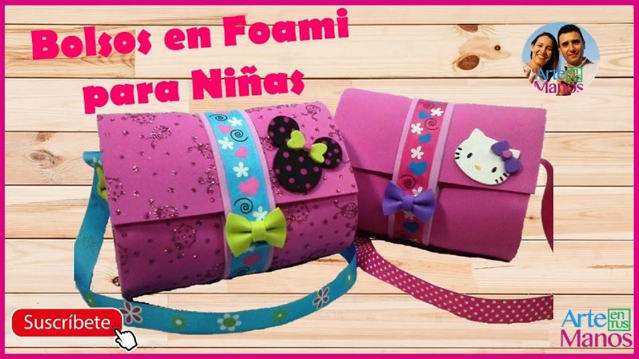 6157bdad33c Bolsos Para Niñas en Foami o Goma Eva - Bags girl in foam - YouTube