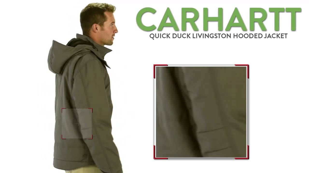 top design good details for Carhartt Quick Duck Livingston Hooded Jacket - Fleece Lining, Insulated  (For Men)