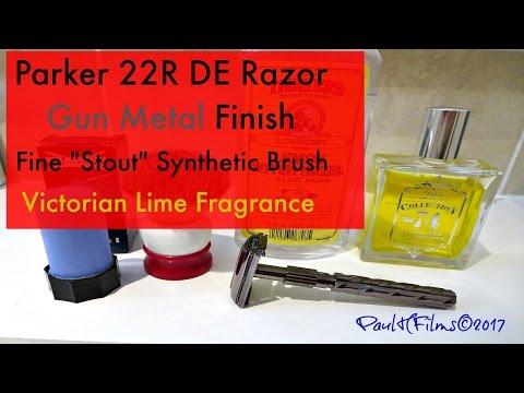 Parker 22R DE Razor -  Wilkinson Sword Shave Stick (Blue Soap)