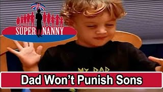Dad Won't Punish Boys For Being Naughty | Supernanny USA