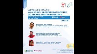 Webinar : Kolaborasi Apoteker dan Dokter dalam Pengobatan Hipertensi