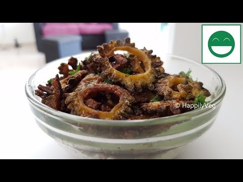 Crispy Karela Fry Recipe in Hindi, मज़ेदार करेला फ्राई बनाने की विधि, Karlyachi Bhaji