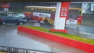 Kerala bus Accident....CCtv  footage..