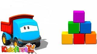 Kids 3d Construction Cartoons For Children 6: Leo's Color Blocks! (мультфильмы про машинки)