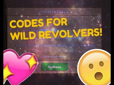 3 New Codes For Roblox Wild Revolvers Youtube