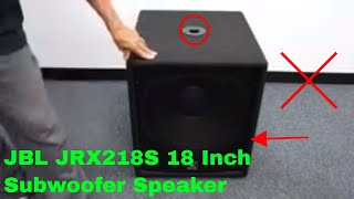 ✅  How To Use JBL JRX218S 18 Inch Subwoofer Speaker Review