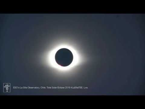 Moment Of Totality! 2019 Total Solar Eclipse Reaches Peak