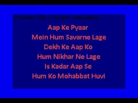 Aapke Pyaar Mein Hum (Raaz) Karaoke with lyrics (No Vocal)