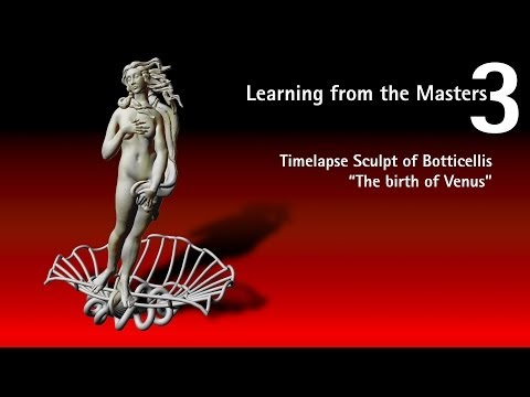Timelapse sculpt of Botticellis Venus