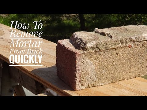 How to Remove Mortar or Cement from Bricks Quickly