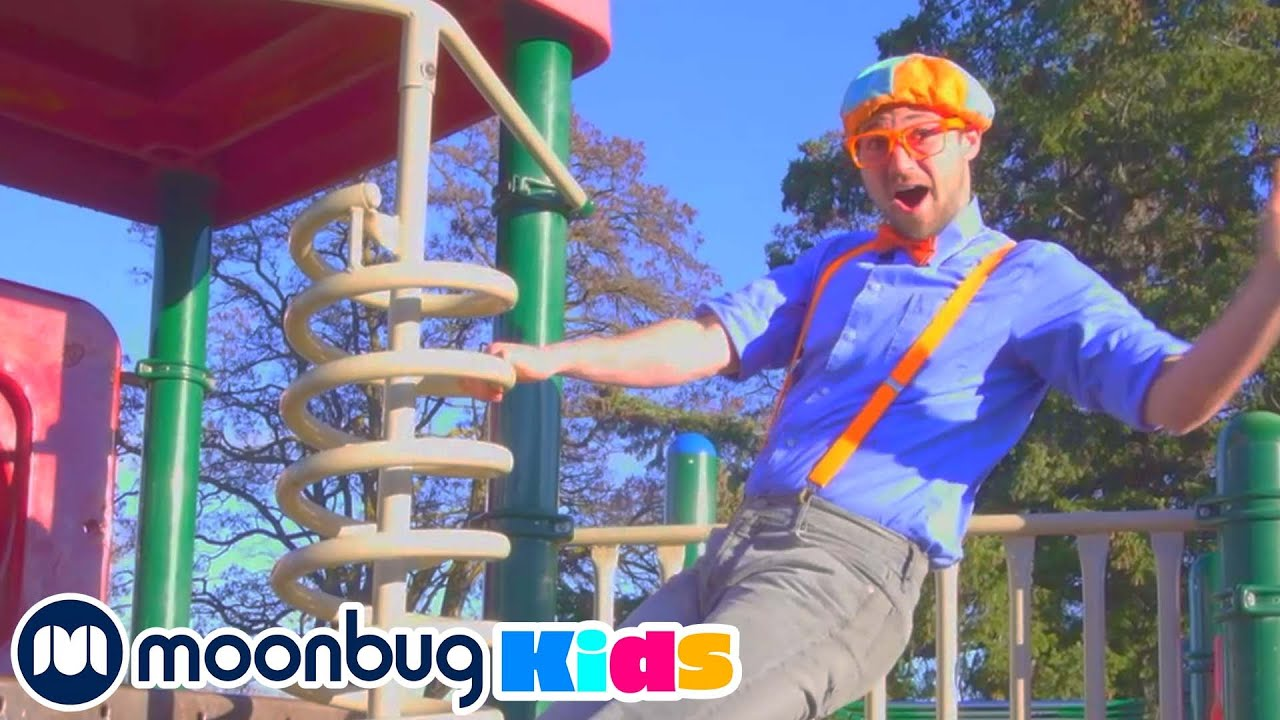BLIPPI Visits Outdoor An Play Park! | Learn | ABC 123 Moonbug Kids | Educational Videos