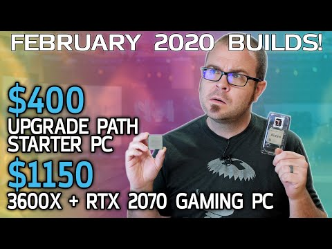 $1150 Gaming PC and $400 Starter Rig - February 2020 Builds!