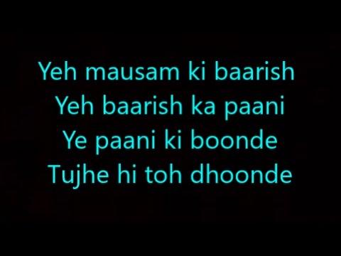baarish lyrics half girlfriend