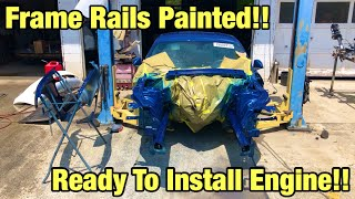 Rebuilding The Cheapest Totaled Salvage Auction 2018 Mustang GT! Frame Repair Paint Finished