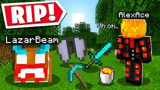 SO I LOST ALL OF LAZARBEAMS LOOT IN MINECRAFT..