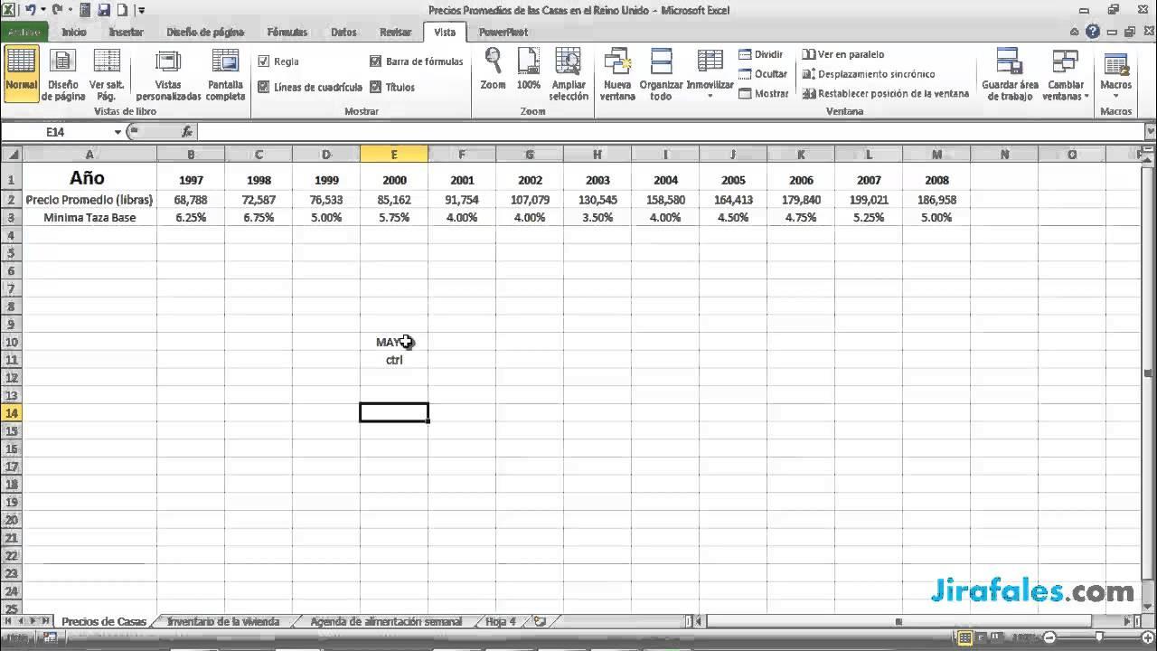Navegando dentro y entre hojas de calculo y libros de trabajo - YouTube
