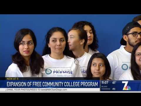 KNSD: SDCCD Extends Free College Program