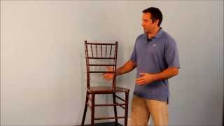 Wood, Resin, & Aluminum Chiavari Chair Discussion(A common question at EventStable.com: